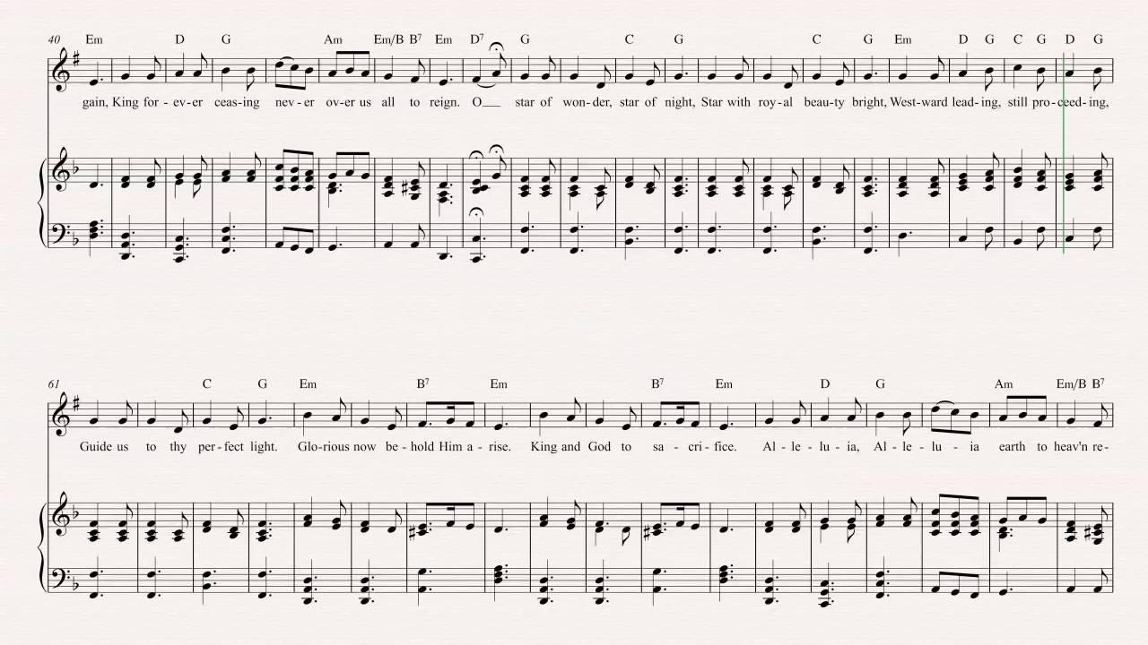 Trumpet - We Three Kings - Christmas Carol - Sheet Music, Chords, & Vocals - YouTube