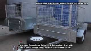 Hot Dipped Galvanized Trailer - Cage Trailer + Ramp