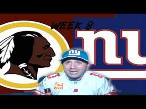 New York Giants  NY Giants vs  Washington Redskins Reaction