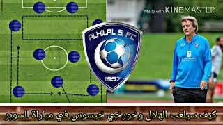 كيف سيلعب الهلال و خورخي جيسوس في مباراه كاس السوبر السعودي أمام الاتحاد وكيف ستكون التشكيلة
