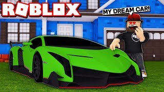 MY DREAM CAR LAMBO in ROBLOX VEHICLE SIMULATOR | DRAG RACES | CAR STUNTS