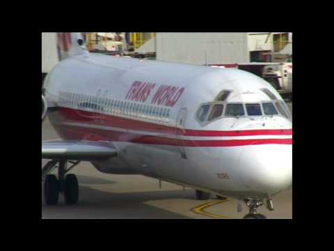 Goodbye TWA Trans World Airlines St Louis, JFK, MD80, Boeing 717, 757, TWExpress