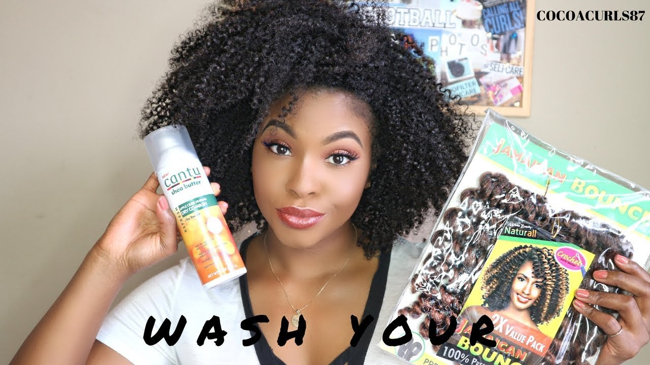 How To Wash Your Crochet Hair Before Installing Course Hair