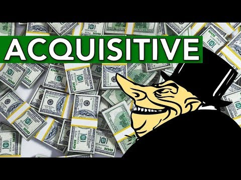 Learn English Words - ACQUISITIVE - Meaning, Vocabulary Lesson with Pictures and Examples