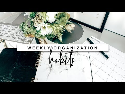 Weekly Organization Habits! 5 Ways I Stay Organized!