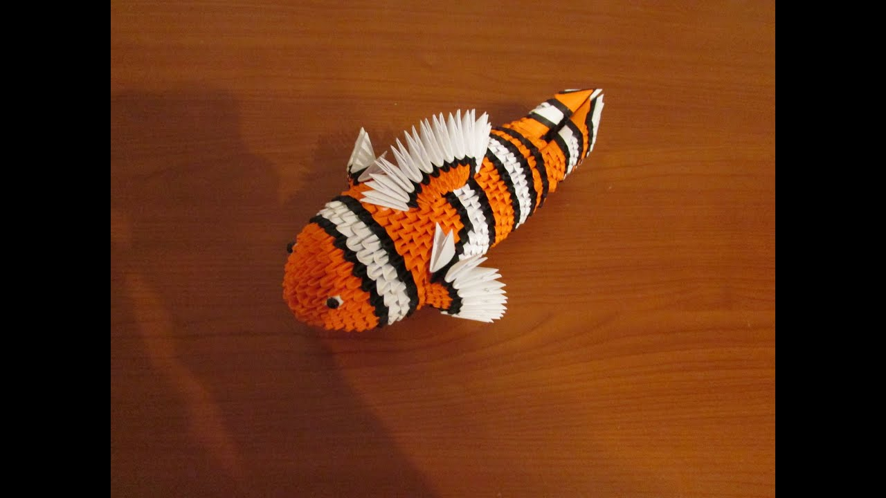 3D Origami Nemo Tutorial - YouTube - photo#19