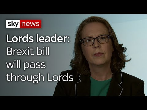 Lords leader: Brexit bill will pass through Lords
