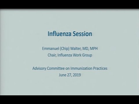 June 2019 ACIP Meeting - Agency Updates; Influenza Vaccines