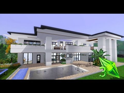 The Sims 3 House Designs - Modern Elegance - YouTube