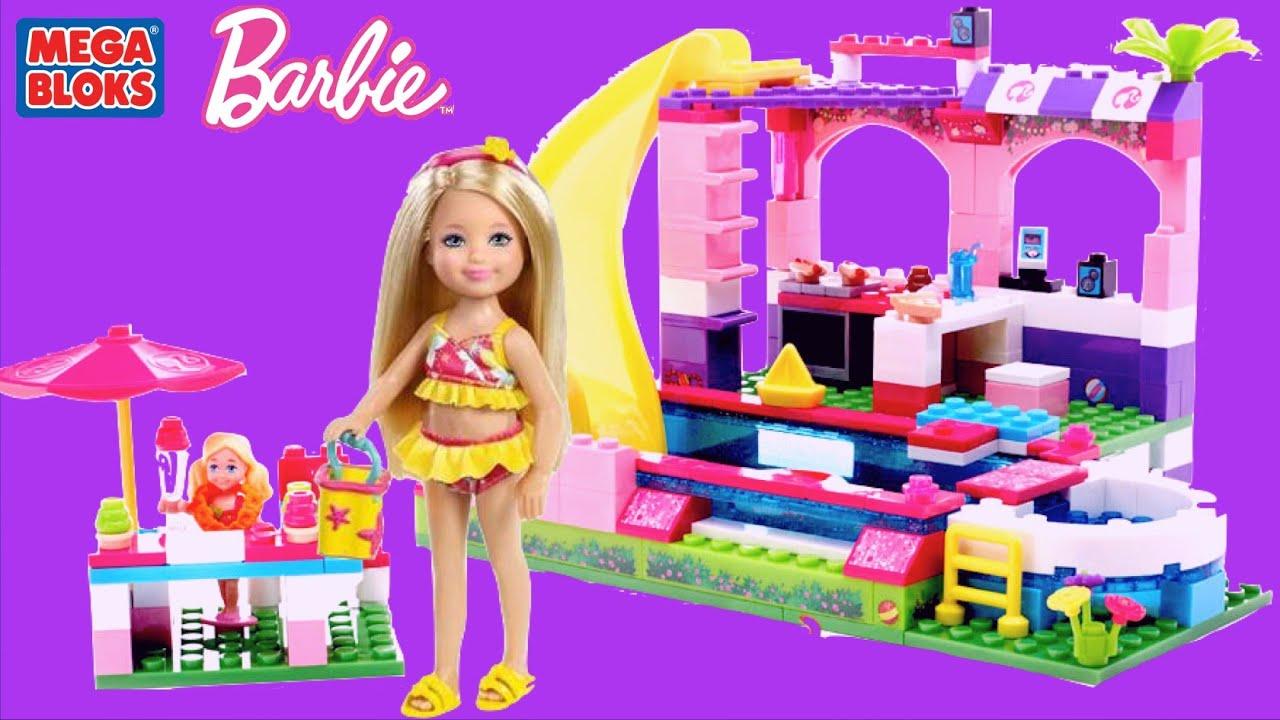 Barbie Mega Bloks Barbie Build N Play Chelsea Pool Party