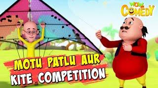 Motu Patlu- EP22B   Motu Patlu Aur Kite Competition   Funny Videos For Kids   Wow Kidz Comedy