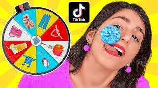 KAMI MENCOBA TRIK DAN TANTANGAN VIRAL DI TikTok || Putar Roda Misteri oleh 123 GO! CHALLENGE