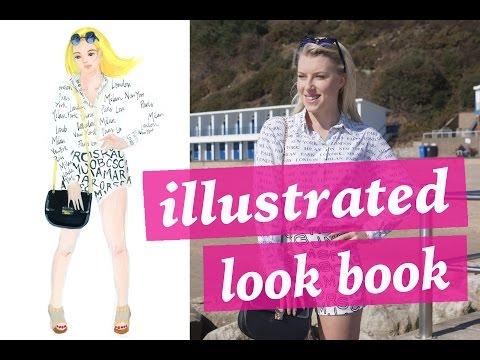 illustrated-summer-lookbook- -pauper-to-princess-&-june-sees