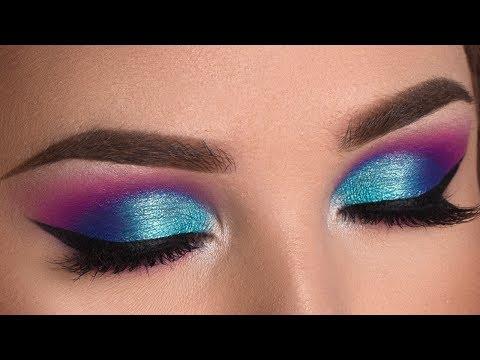 Colorful Summer Smokey Eye Makeup Tutorial – Jaclyn Hill X Morphe Palette
