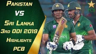 Pakistan Vs Sri Lanka 2019   3rd Odi   Highlights   Pcb