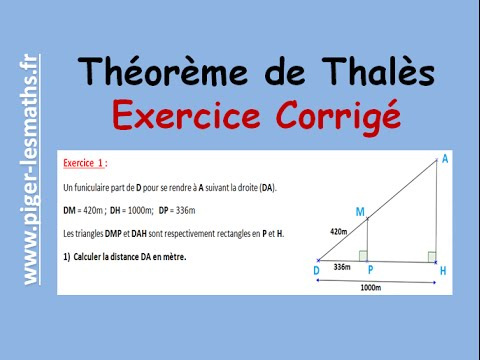 theoreme de thales exercices corriges