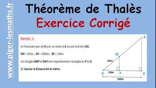 Theoreme De Thales Exercice Corrige Piger Lesmaths Youtube