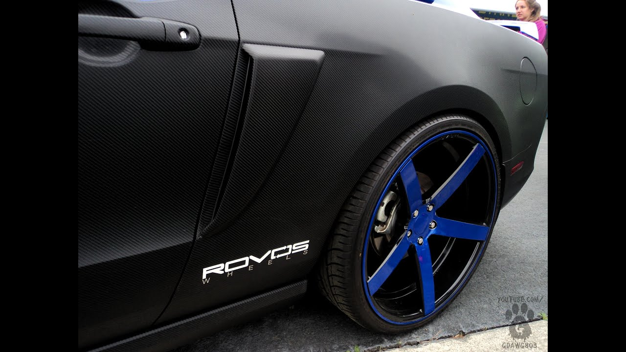 Carbon Fiber Wrapped Mustang 5 0 On 22 Quot Rovos Wheels At