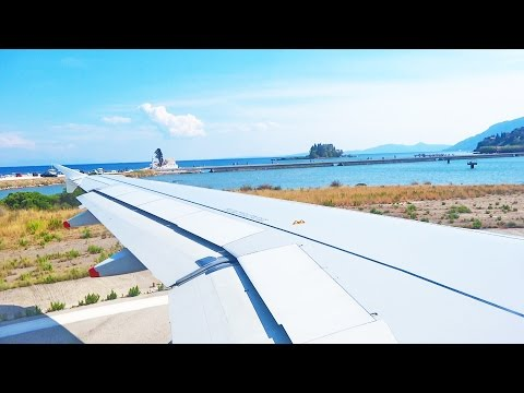 Germania Airbus A319 D-ASTC Take Off at Corfu Airport LGKR CFU [1080p HD]