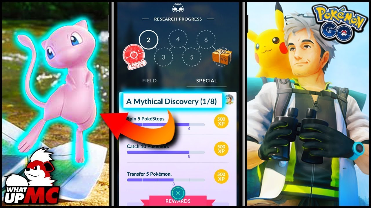 How To Unlock MEW In Pokemon GO! - New Quest System! - Field & Special  Research