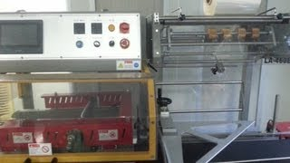 L type automatic sealing and shrinking machine PE film sealer shrinkage packaging machinery for box