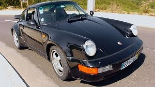 Review Porsche 911 (964) Turbo with great exhaust sound!