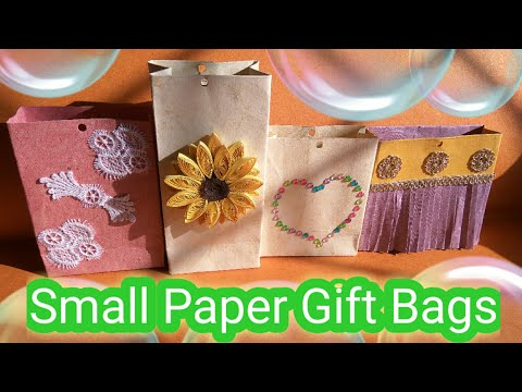 Small Paper Gift Bags | Easy to make | DIY