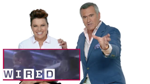 Bruce Campbell & Lucy Lawless react to classic horror scenes