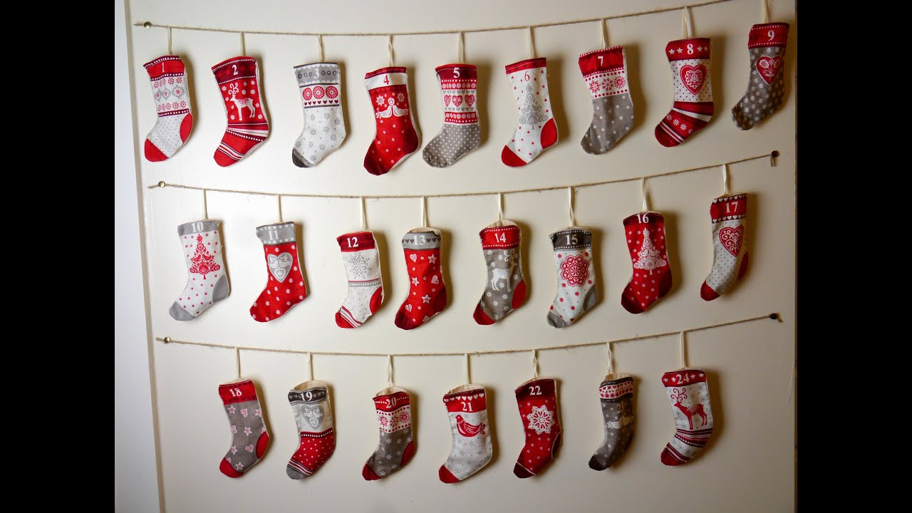 Diy stocking advent calendar tutorial youtube solutioingenieria