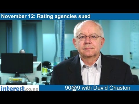 90 seconds at 9 am: Rating agencies sued (news with David Chaston)