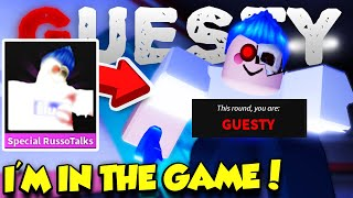 I GOT MY OWN CHARACTER IN THE GAME!! (Roblox Guesty)