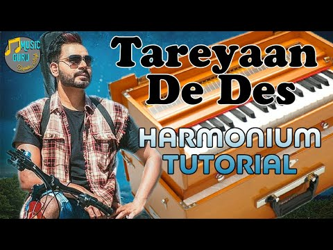 Tareyaan De Des Play On Harmonium By Prabh Gill || Easy Harmonium Tutorial By Music Guru