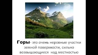 Равнины и горы 2 класс