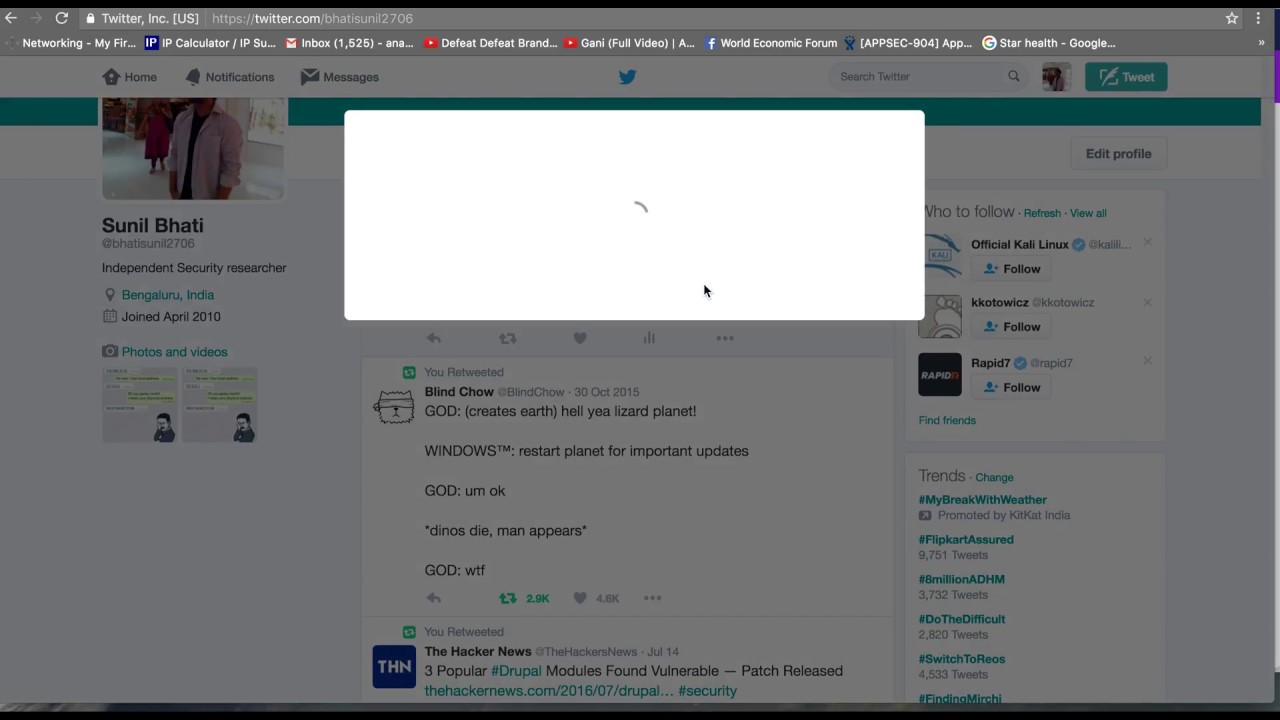 How I took control of your Twitter account (tweeting, viewing