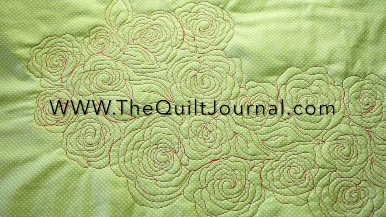 Free Motion Quilting Tutorial Rose fill