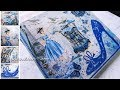 La Parisienne The Blue Lady - Decoupage & Mixed Media on canvas Tutorial DIY