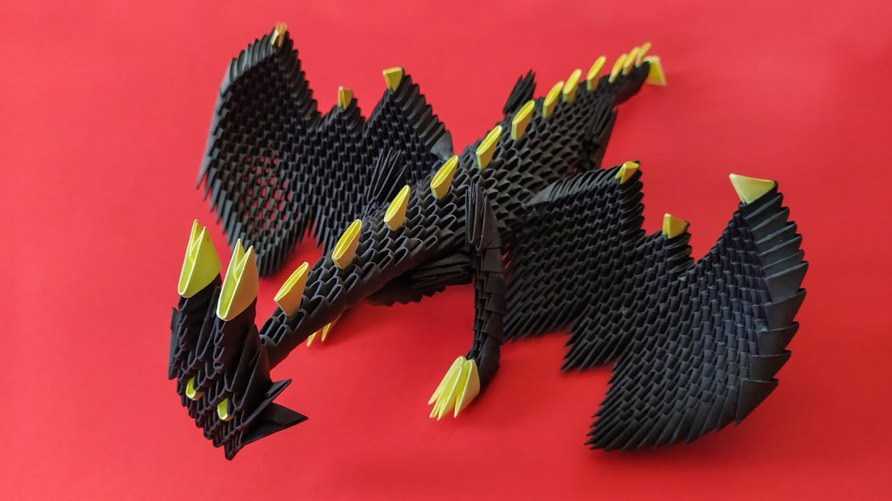 Tutorial 3d origami chinese dragon part 4 - YouTube | 720x1280