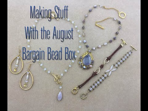 Making Stuff with the August Bargain Bead Box