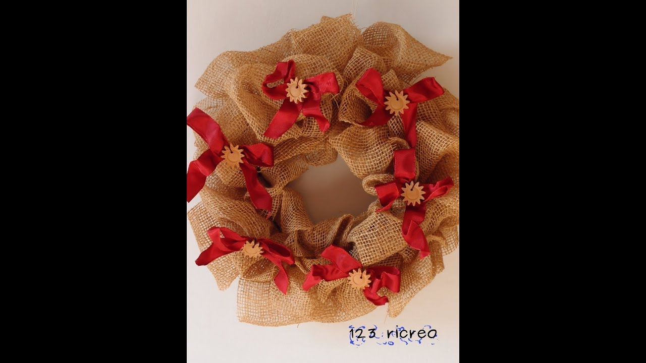 Ghirlanda fiocchi di sole diy wreath youtube - Ghirlanda di natale per porta ...