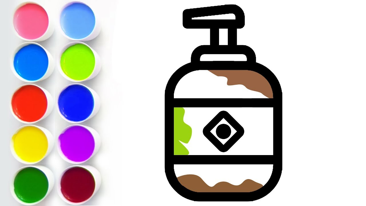 Hand Wash Coloring And Drawing How To Draw Paint Color