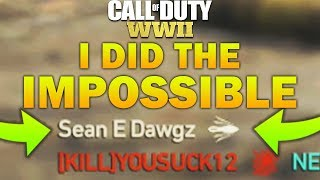 FINALLY! THE 99.9% IMPOSSIBLE CHALLENGE ON COD WW2