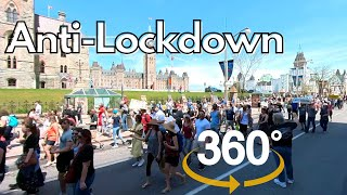 World Wide Rally for Freedom - Anti-Lockdown Protest Downtown Ottawa in 360 - May 15, 2021