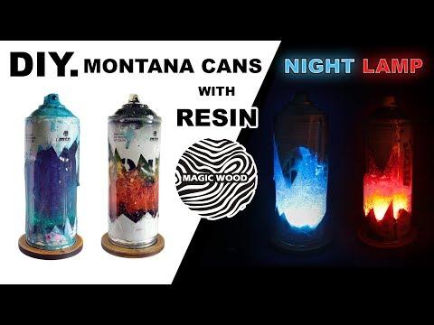 Lampka Nocna z Żywicy DIY. Night lamp from the Resin - Spray Lamp. MONTANA-CANS