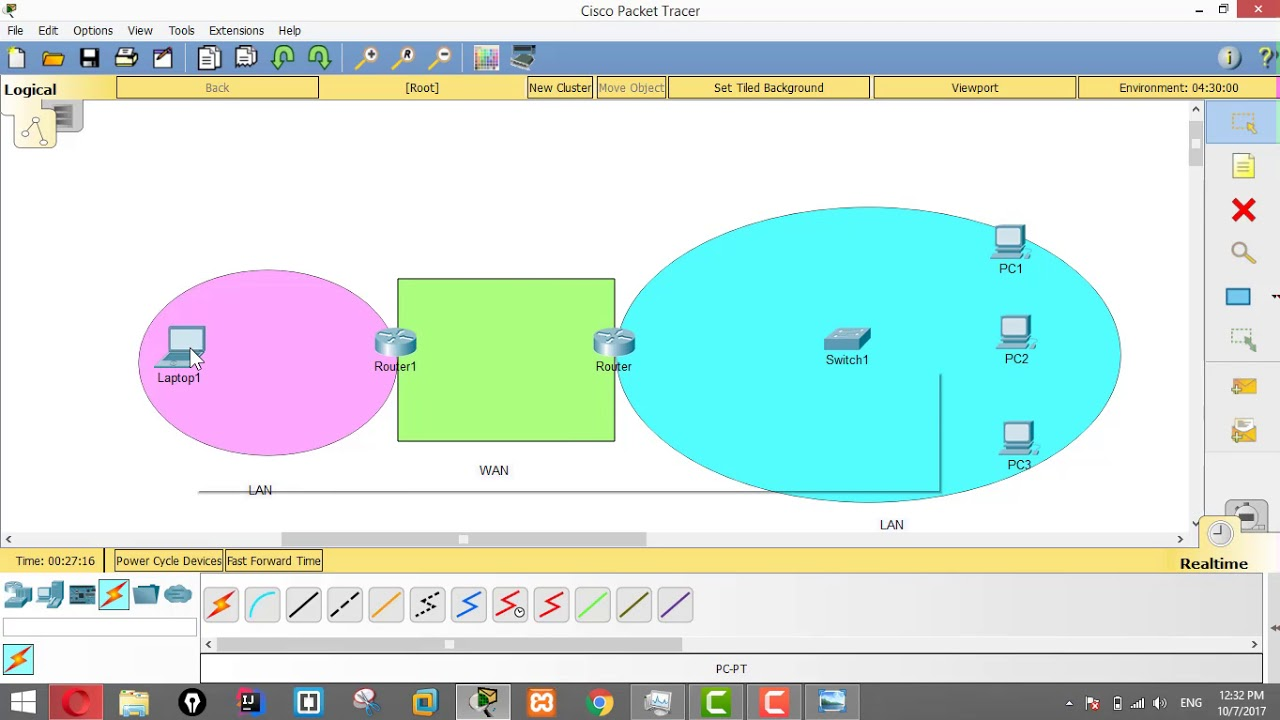 Packet Tracer Lab - 3 - Crossover & Straight Through Ethernet ...