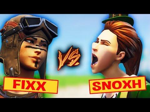 FIXX vs SNOXH!🏆  Fortnite Battle Royale! 1vs1