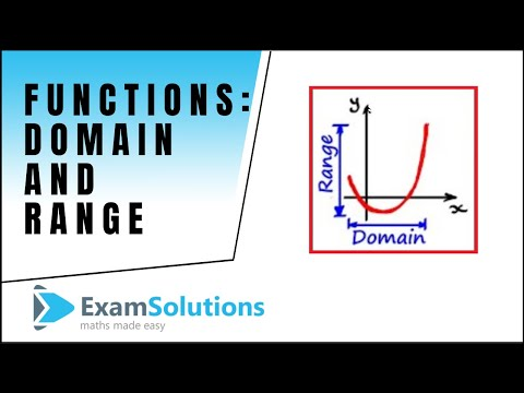 Functions : Domain  Range : tutorial 1 : ExamSolutions