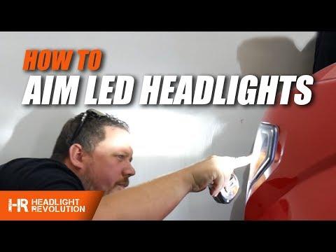 How To Properly Aim LED Headlights | Headlight Revolution