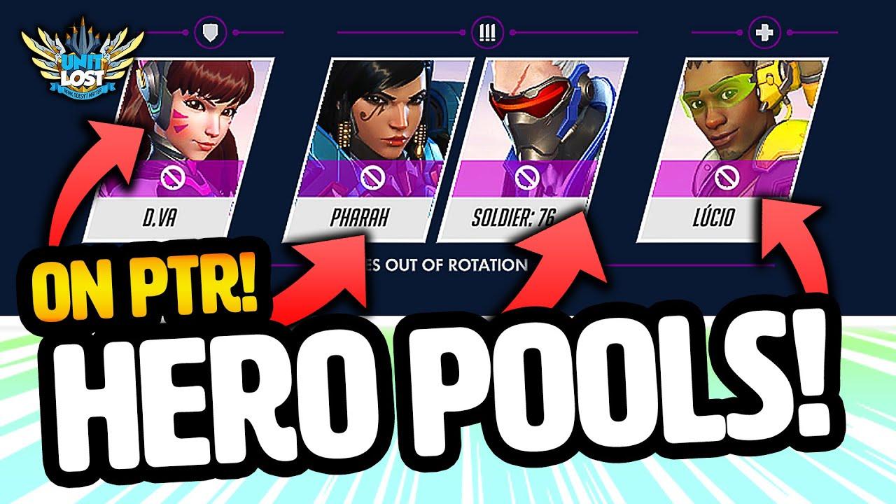 Overwatch Hero Pools LIVE on PTR! - HUGE Workshop NEW MAPS Update! thumbnail