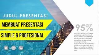 Dalam video tutorial PowerPoint ini disajikan banyak contoh Slide Judul dan contoh Slide Isi yang ba.