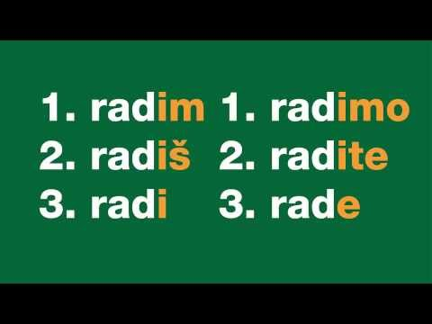 Learn Croatian - Present tense verbs #2